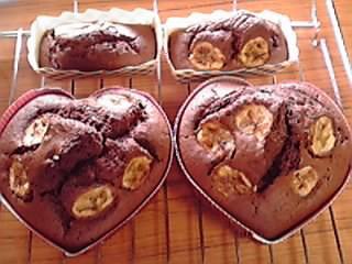 米粉キャラメルチョコバナナパウンドケーキ