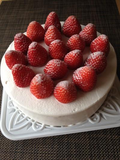 米粉デコレーションケーキ